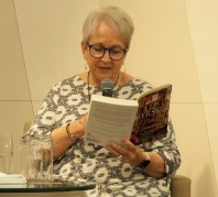 Liz Byrski reading at Book Launch